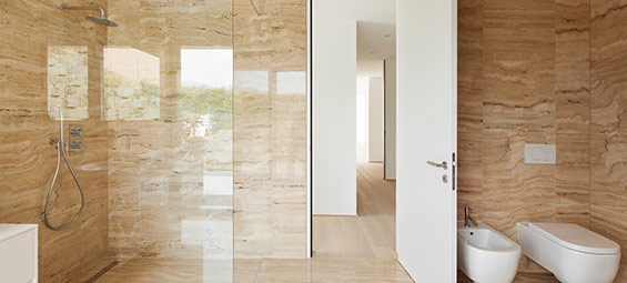Open Shower Designs bring the spa experience to your bathroom with an open shower