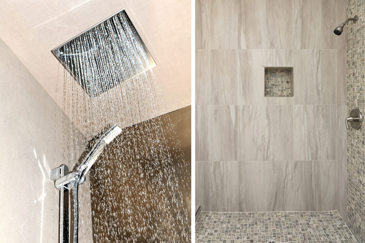 Luxury showers are a big trend in bathroom remodeling for for New bathroom trends 2016