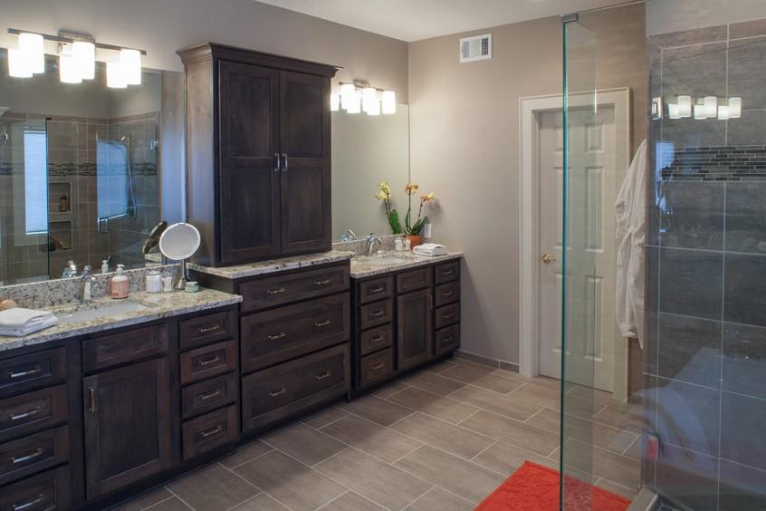 Master bath transforms to resort style private SPA | Mission Kitchen ...